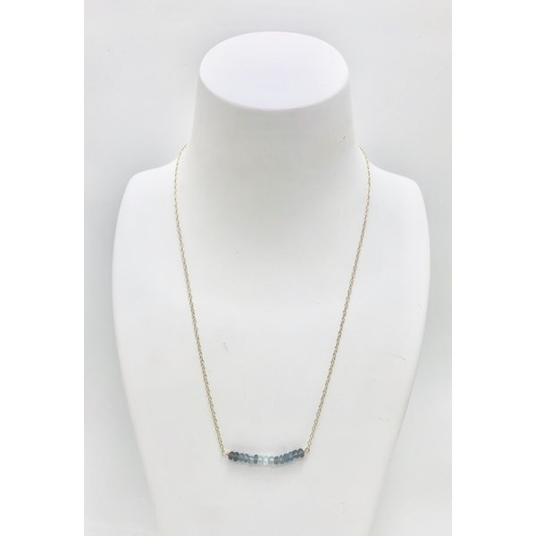 Bar of Aquamarine Necklace