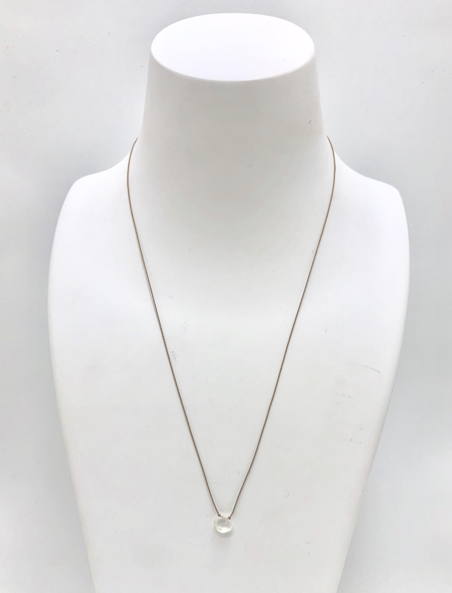 Aquamarine on Silk Necklace