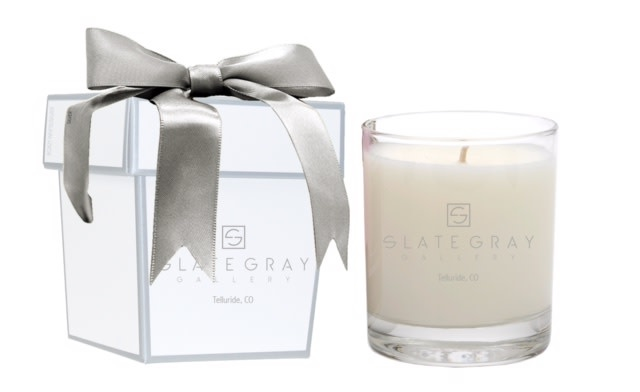 Slate Gray Candle - Citrus Ginger