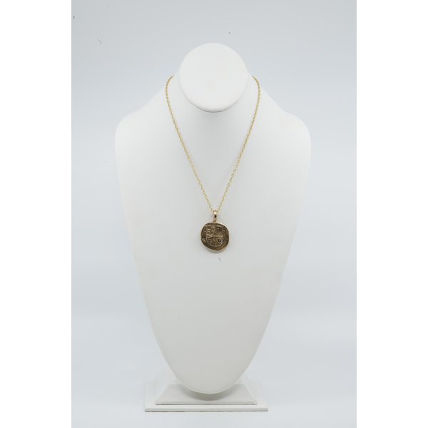 Bronze Spanish Coin Necklace