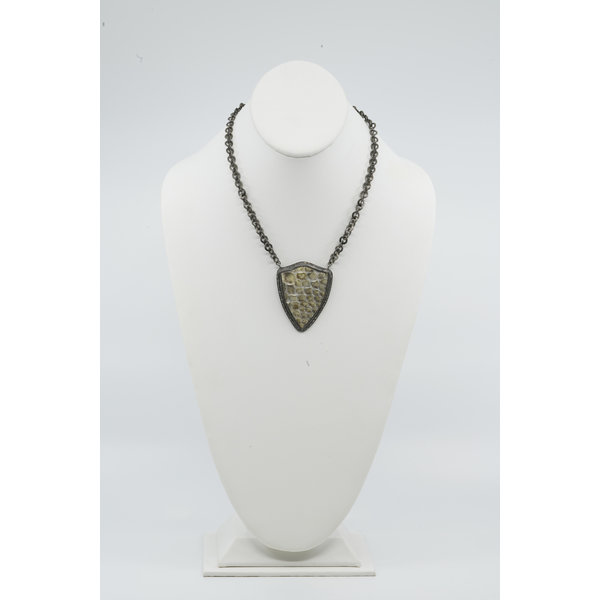 Small Python Shield Necklace