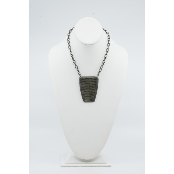 Large Python Belly Shield Necklace