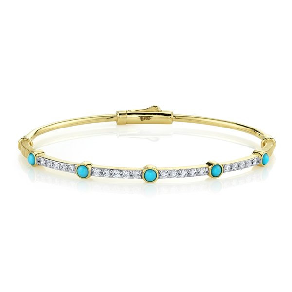 Turq Bracelet with Blue Diamond Detail