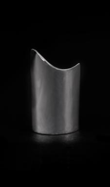 Sterling Short Angled Shield Ring