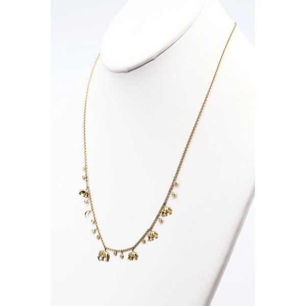 SHOMPOLE  Elephant Galaxy Chain with Diamonds