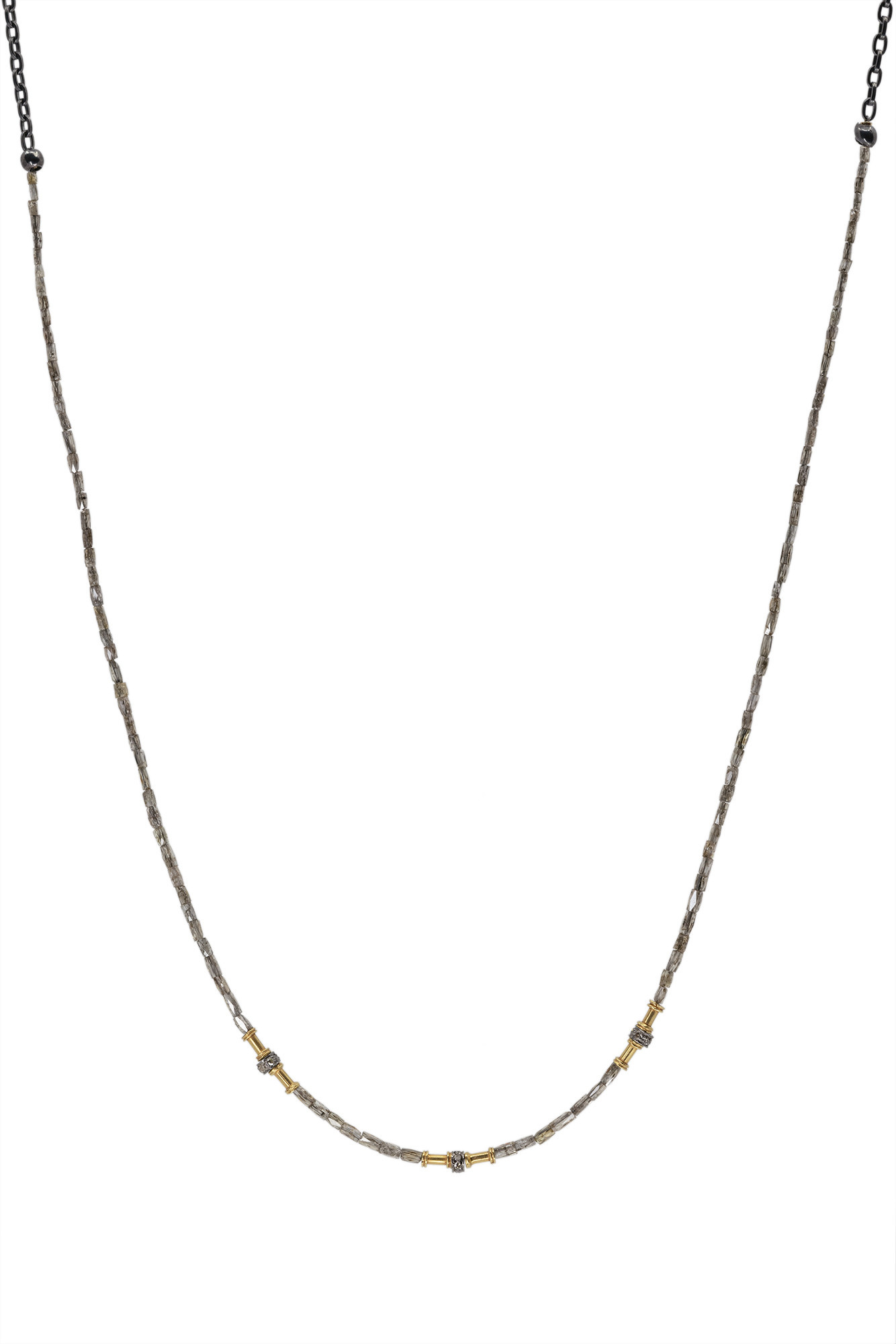 Diamond Strand w/ Gold Accents on Silver Chain