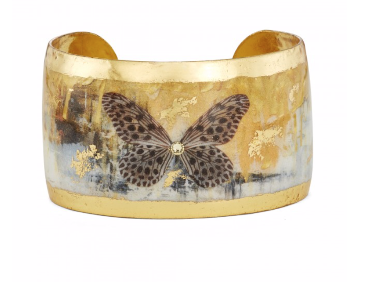 "Gold Rush Butterflies 1.5"" Cuff"