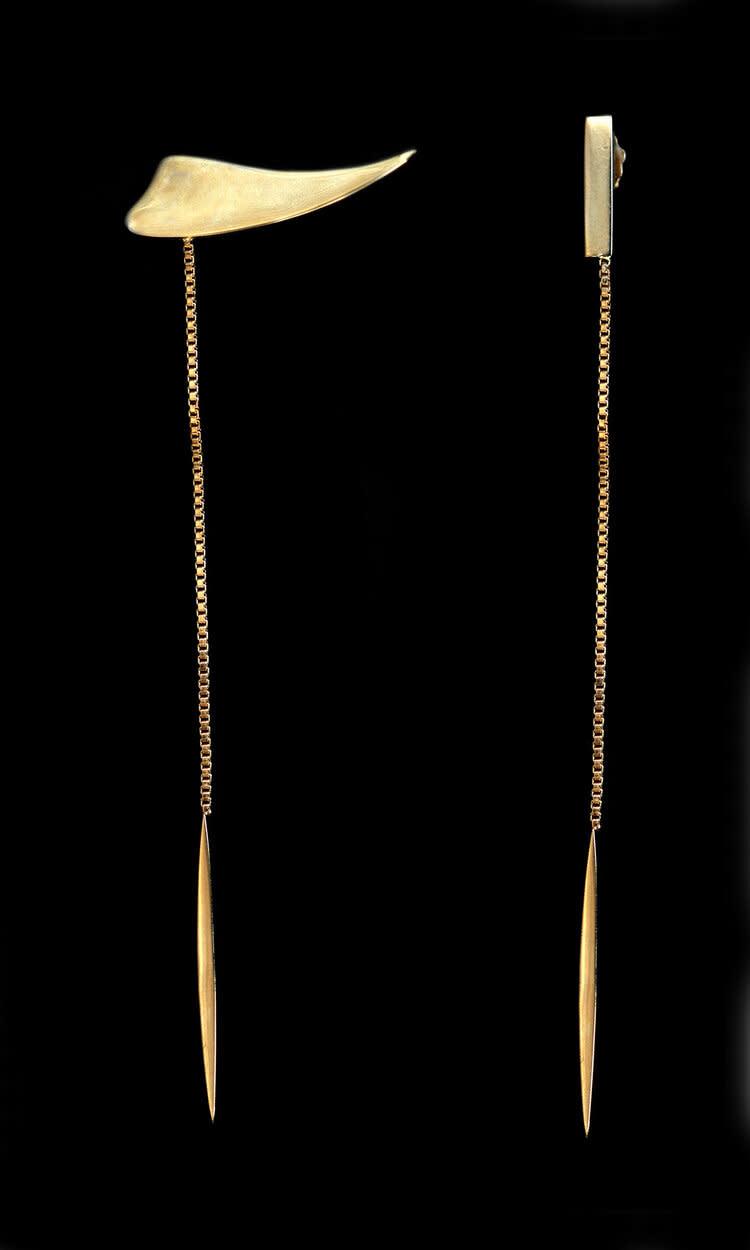 18K Gold Plated Salve Dangle Earrings