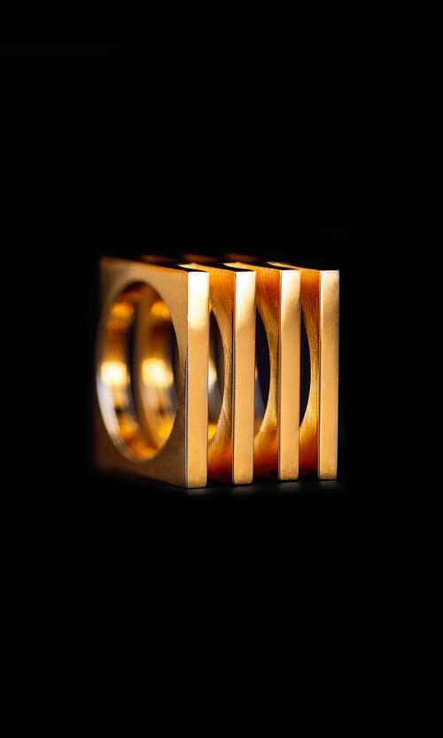 18K Gold Plated Cage Ring