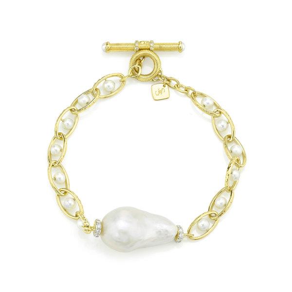 Baroque Pearl Chain Bracelet