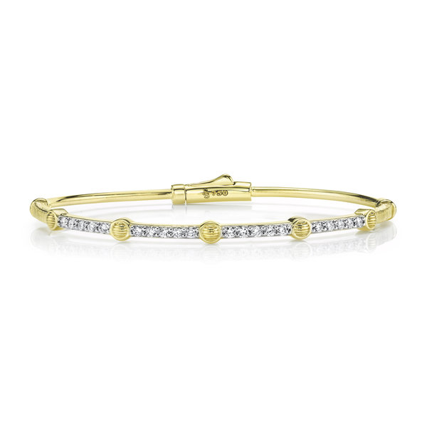 White Diamond Tube Bracelet