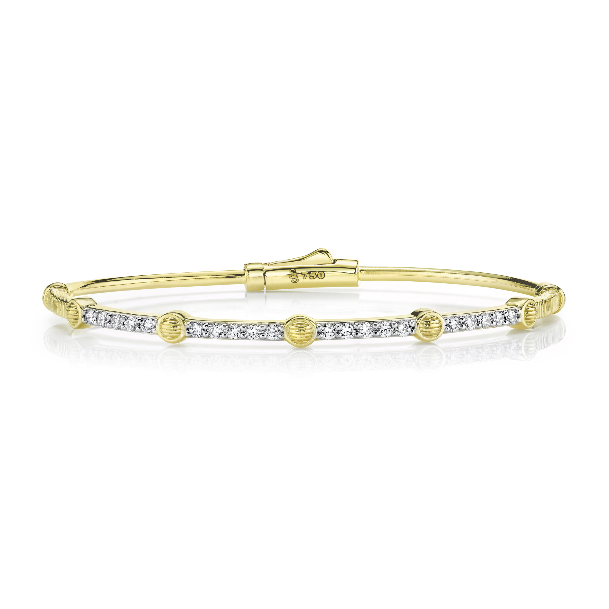 White Diamond Tube Bracelet