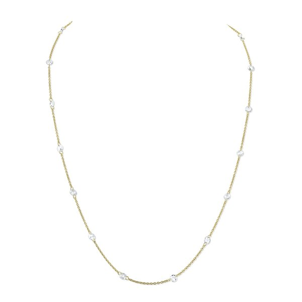 Rose Cut White Diamond Chain