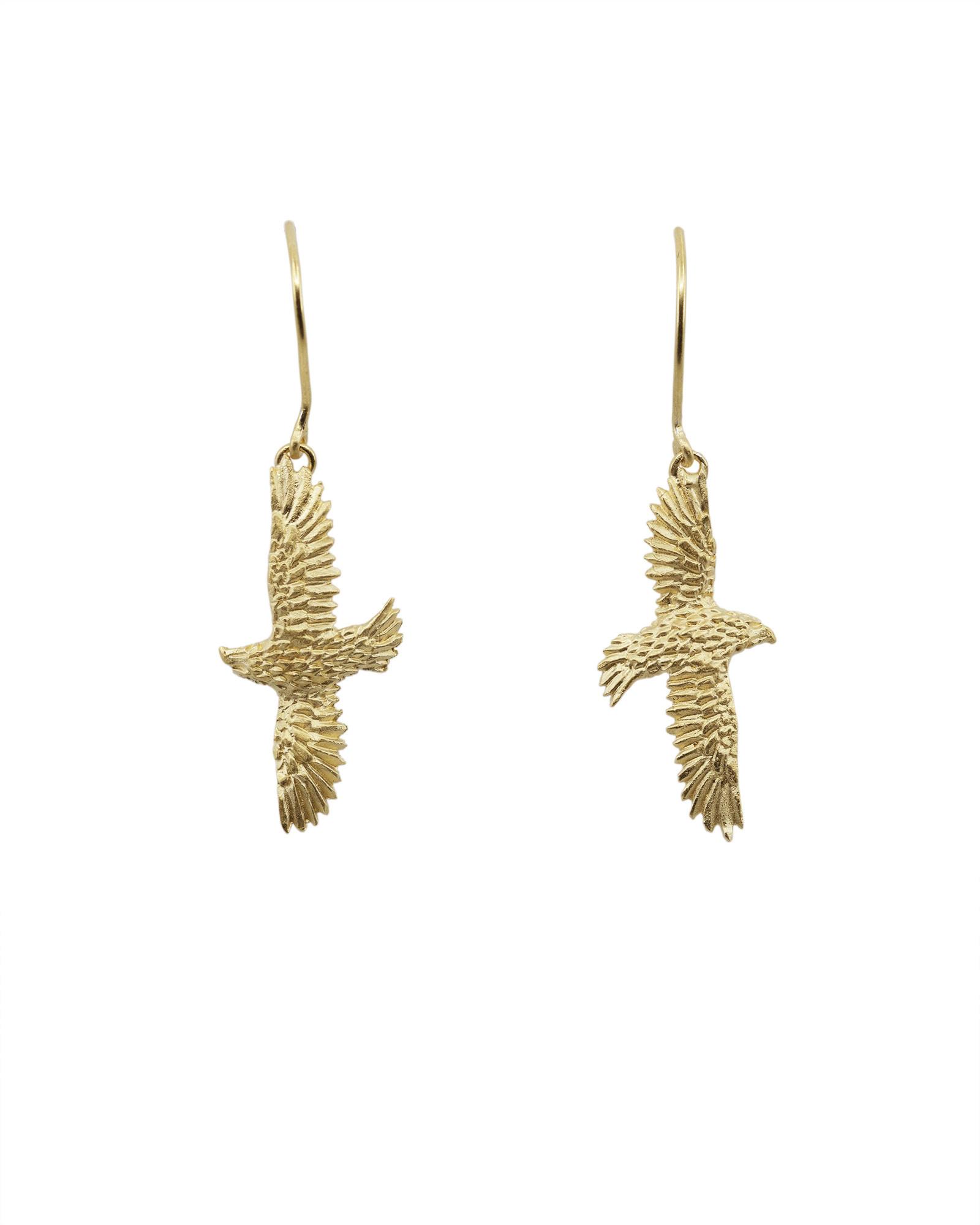 HBJ Gold Plated Hawk Earrings
