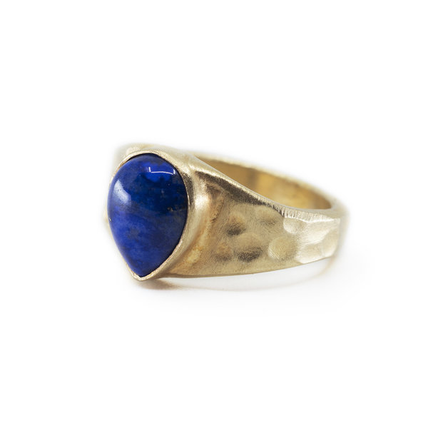 Lapis Pear Shape Ring