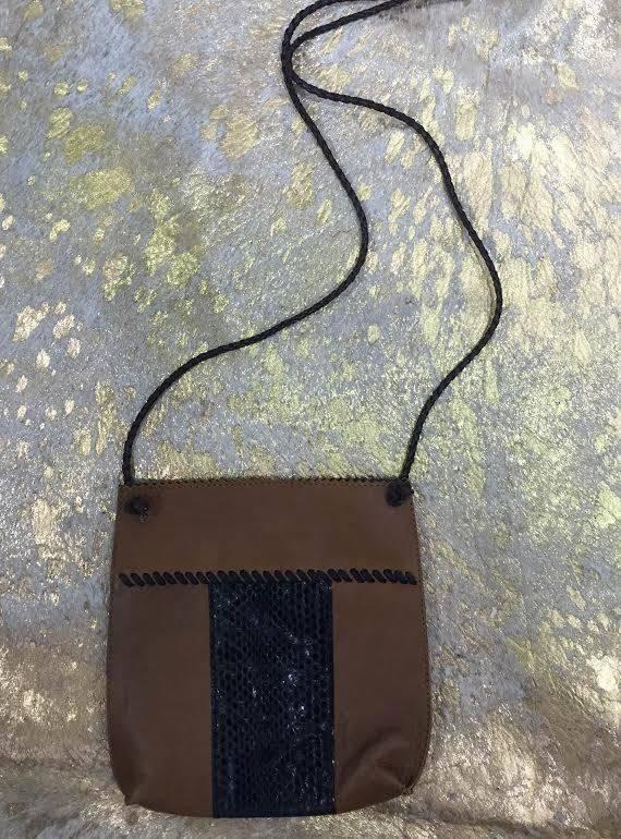 Nubuck Leather + Snakeskin Purse