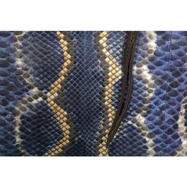 Blue + Tan Pouch