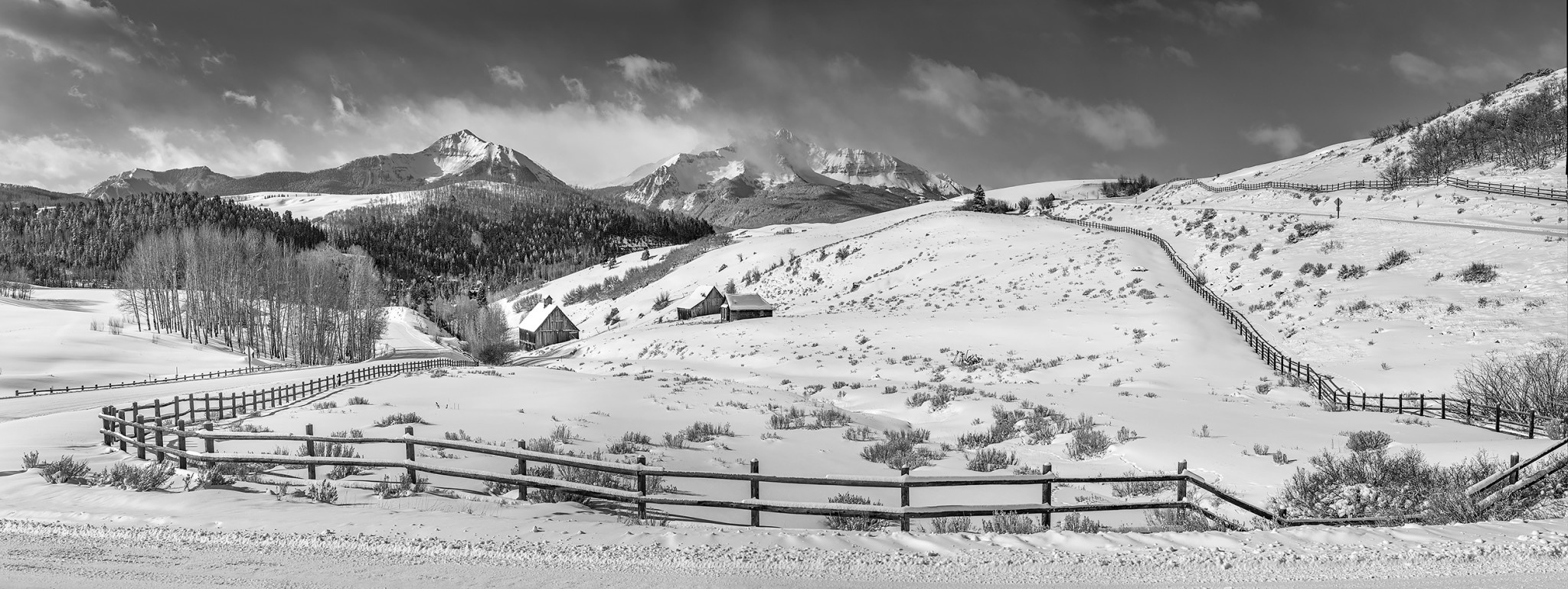 SNOW COVERED RANCH