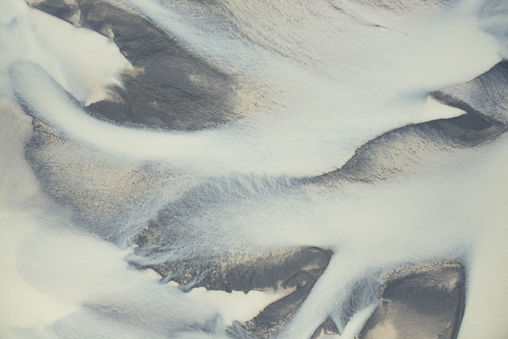 ICELAND AERIAL ABSTRACT 7867