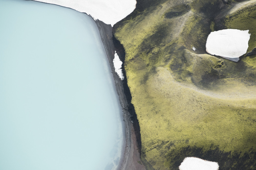 ICELAND AERIAL ABSTRACT 8174