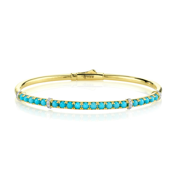 Turquoise and White Diamond Bracelet