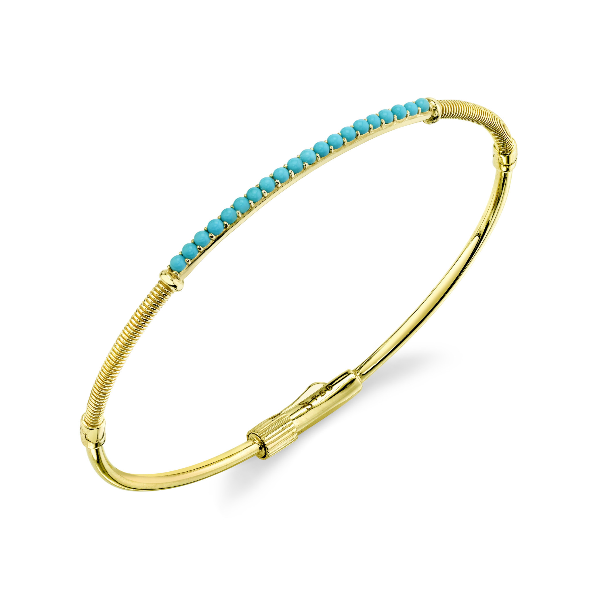 Turquoise and Strie Detail Bracelet