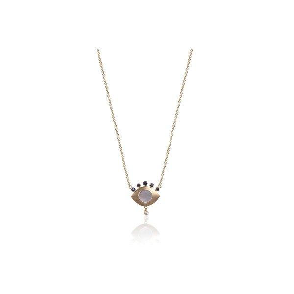 NAJ Eye Pendant - Mother of Pearl/Blue Sapphire