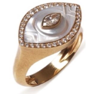 Eye Ring - Mother of Pearl