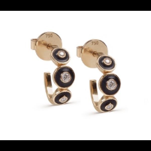 Black Enamel Earrings