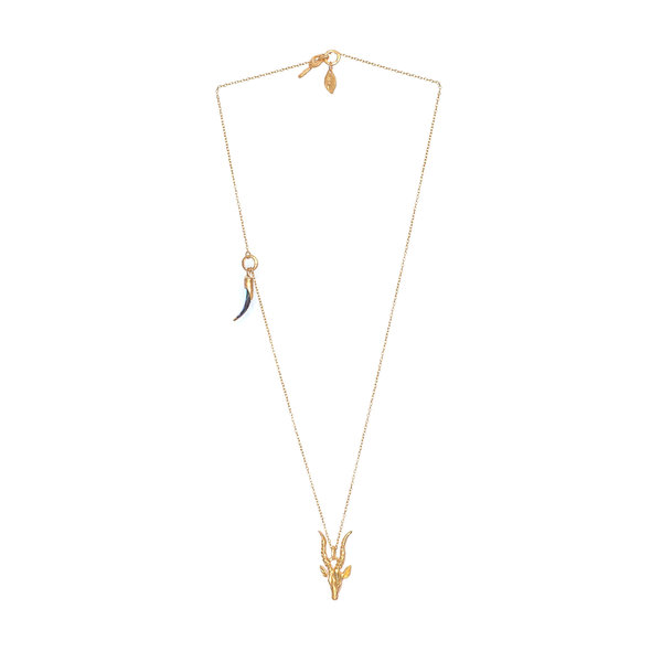 HBJ Hand Carved Impala Necklace - Gold Plated