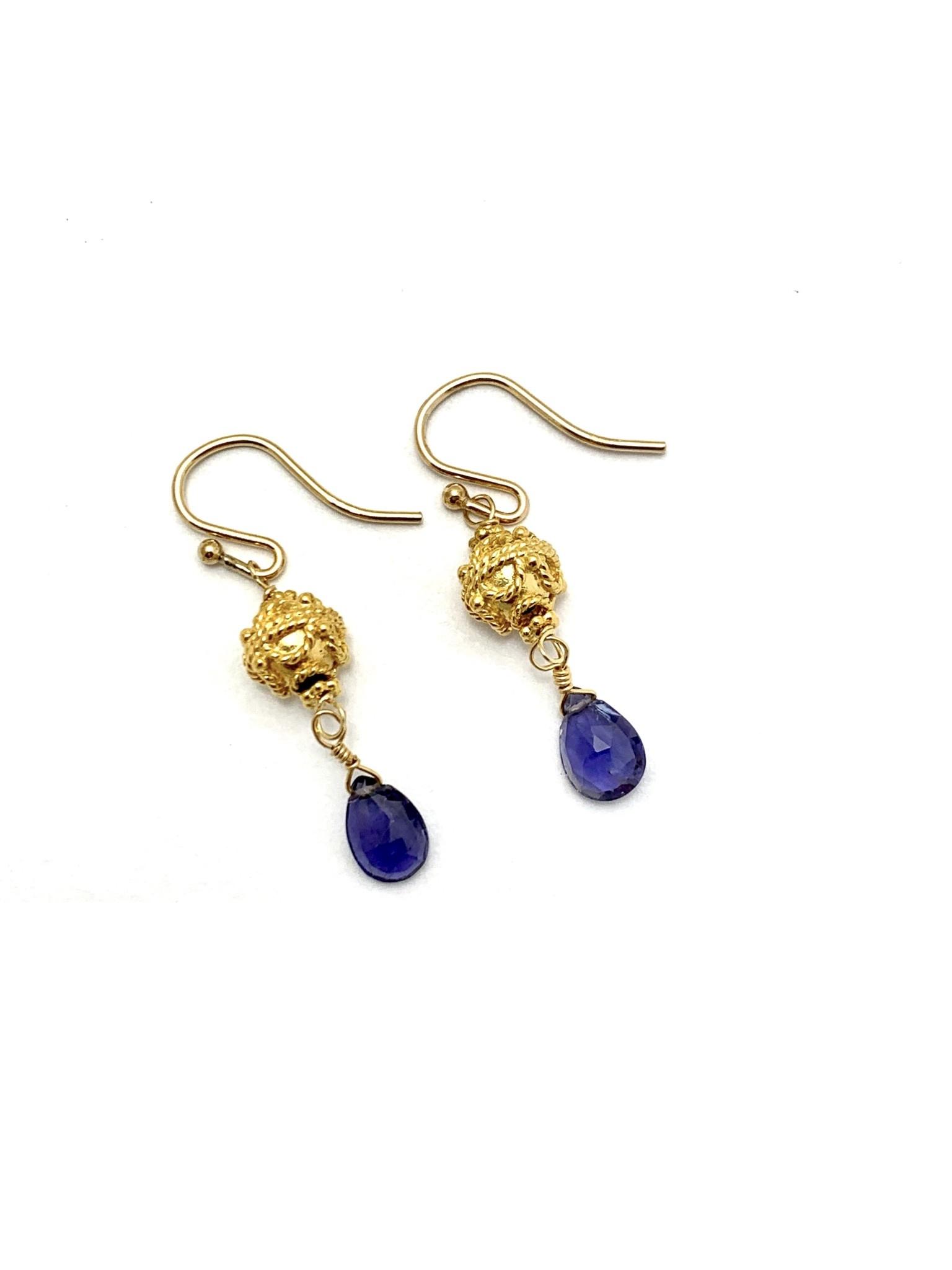Filagree Bead Earrings