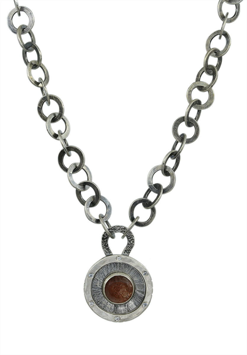 Orange Sunstone Necklace