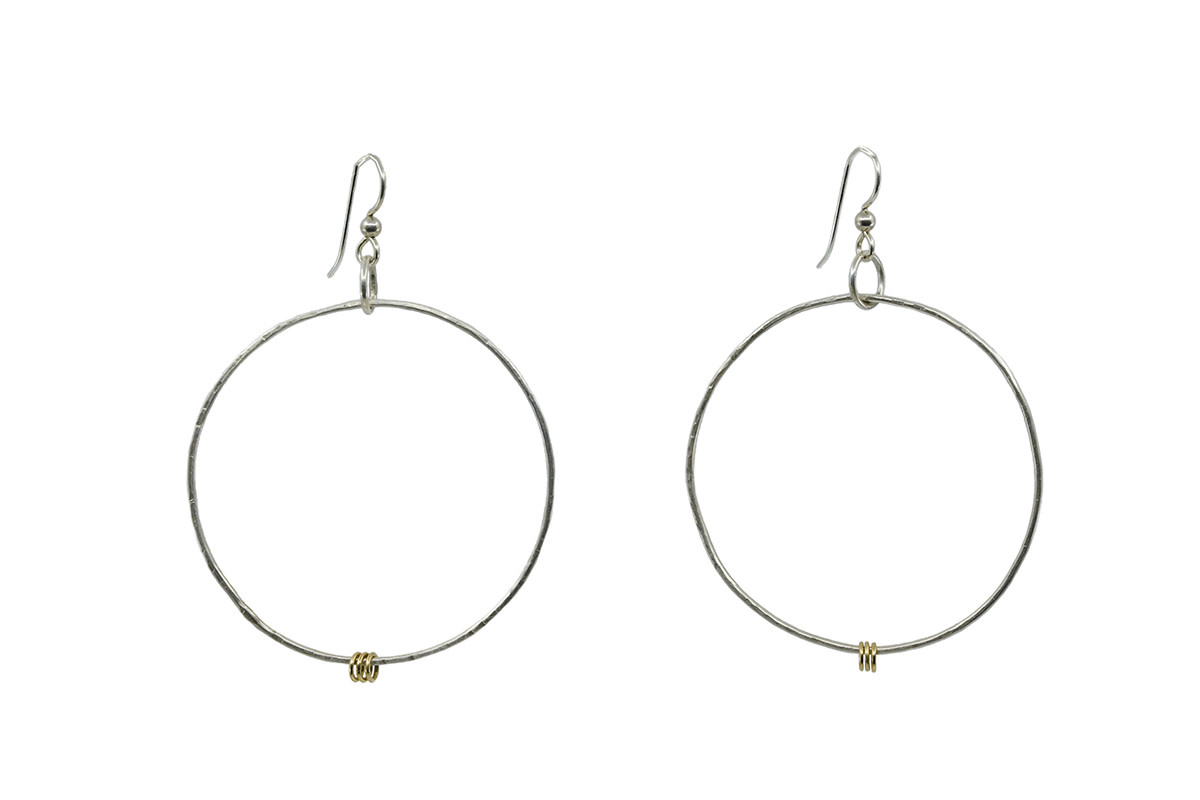 14K Gold Accent hoops
