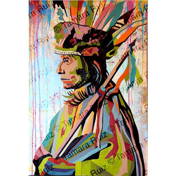 Native American Portrait Profile  *Sold*