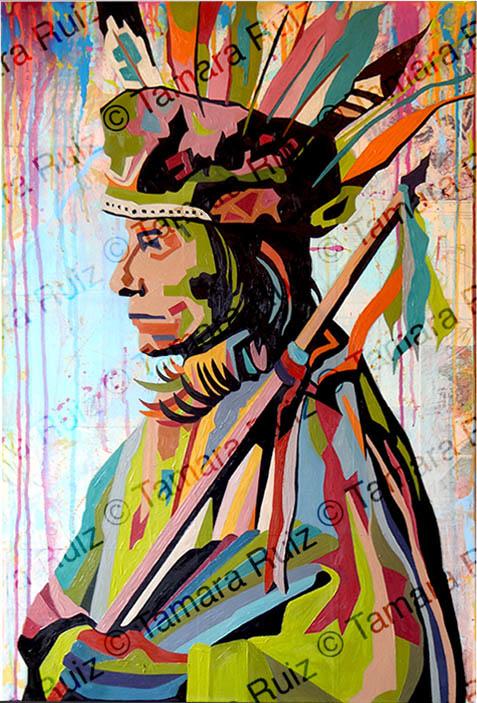 Native American Portrait Profile
