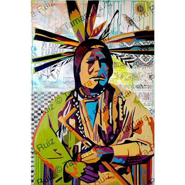 Native American Portrait Facing  *Sold*