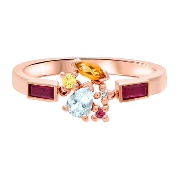 Pull Sunset Attraction Ring 18K Rose Gold
