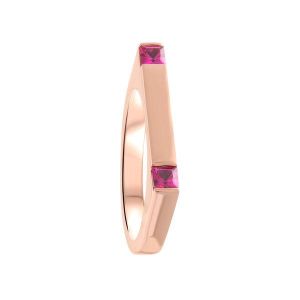 Sunset Attraction Bar Ring 18K Gold