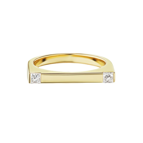 Diamond Attraction Bar Ring 18K Gold