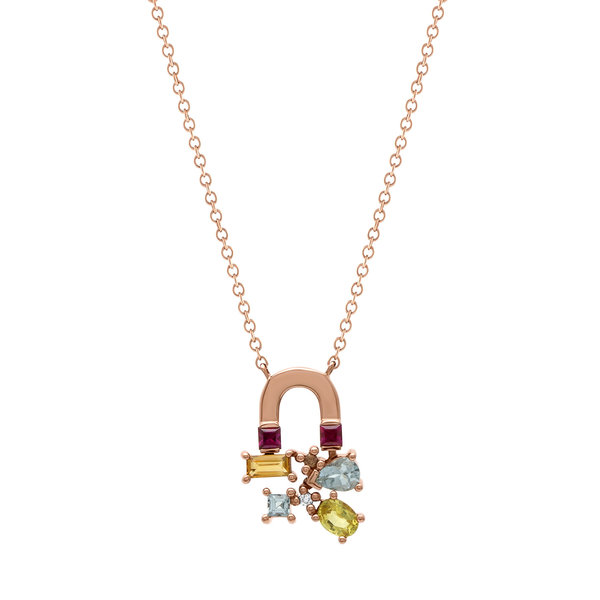 Sunset Attraction Small Necklace 18K Rose Gold