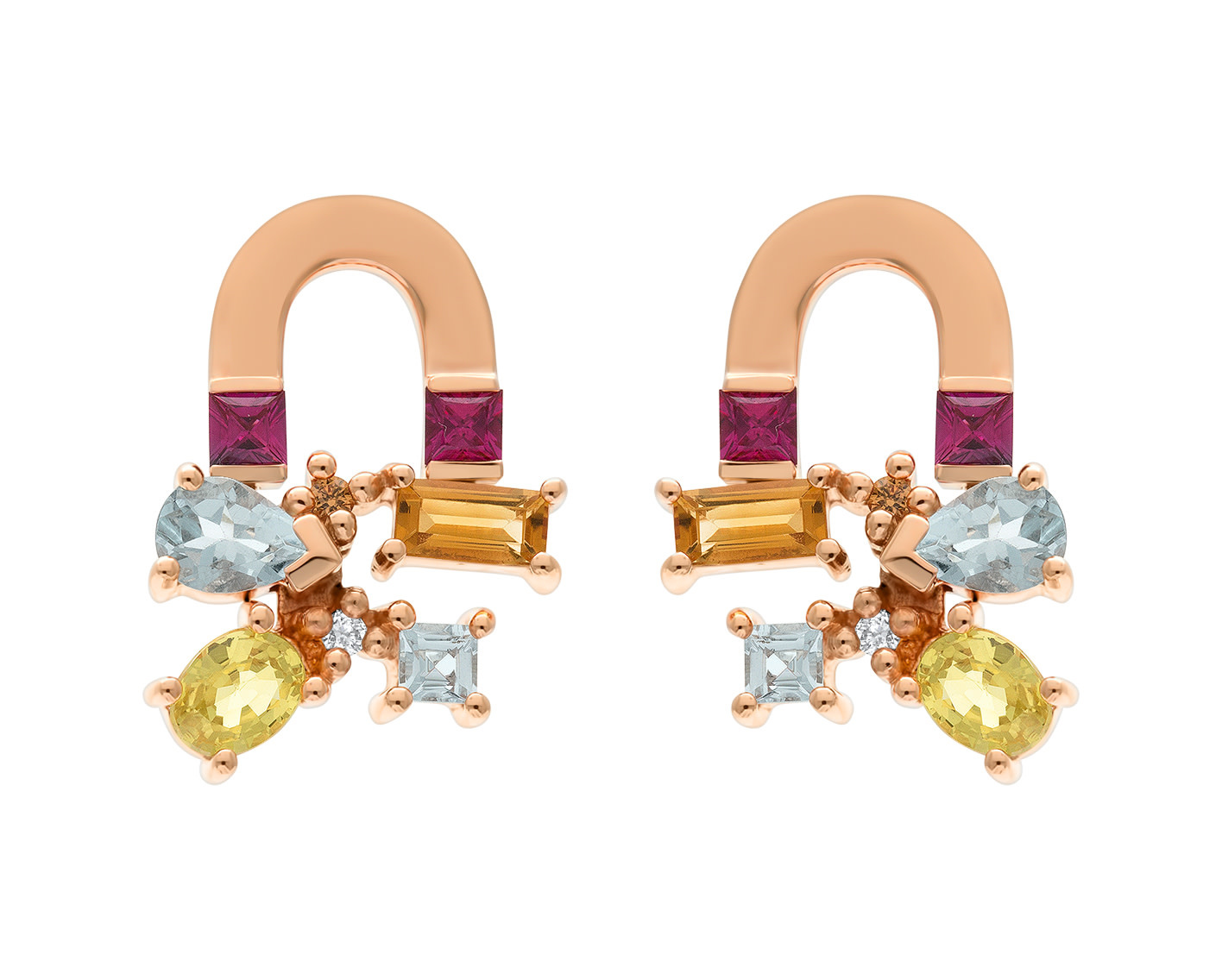 Sunset Attraction Small Earrings 18K Rose Gold