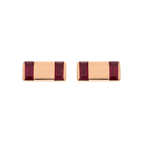 Large Bar Earrings 18K Gold