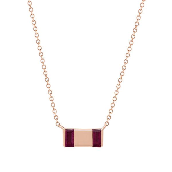 Large Bar Necklace 18K Gold