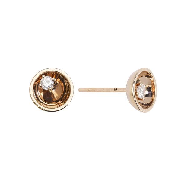 Large Diamond Floating Star Earrings 18K Gold
