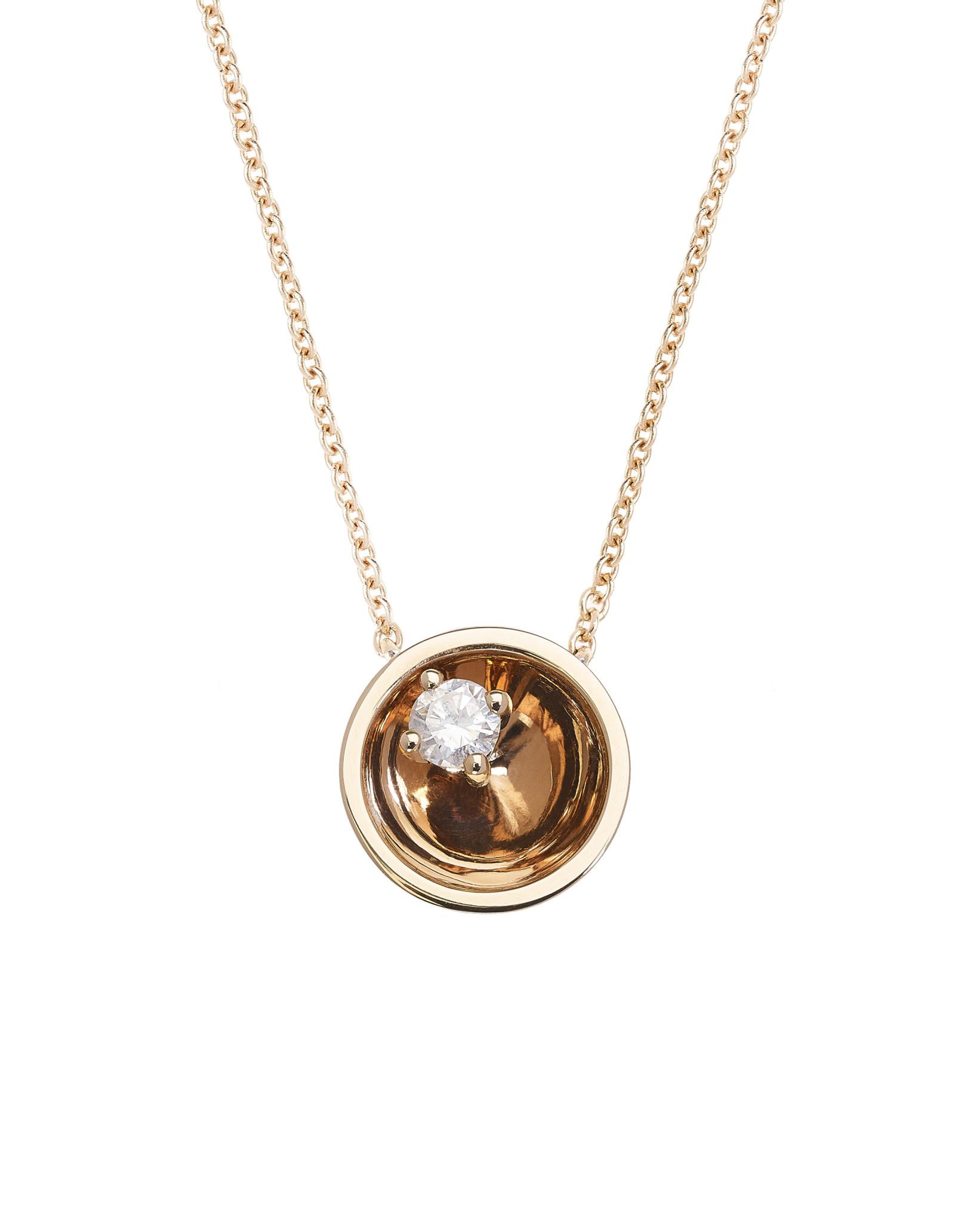 Large Diamond Floating Star Necklace 18K Gold