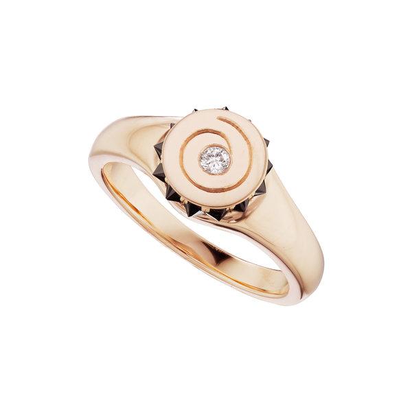 Rays Spiral Ring 18K Rose Gold