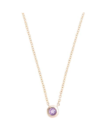 A Star is Born February Necklace 18K Gold