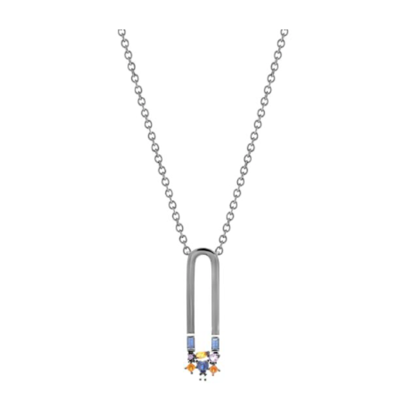 City Lights Attraction Large Necklace 18K Gold, Rhodium Plated