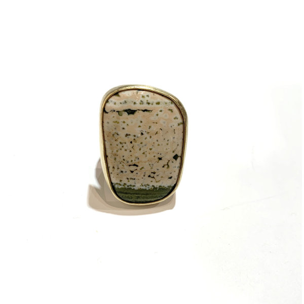 Ocean jasper ring cream/moss