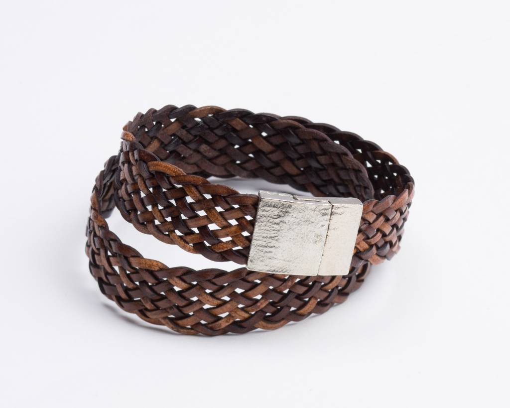 BRAIDED LEATHER BRACELET/CHOKER